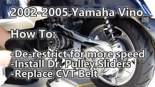 2002-2005 Yamaha Vino: How to de-restrict and install Dr. Pully Sliders