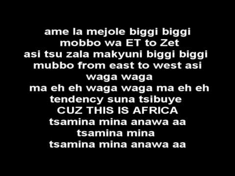 Shakira  Waka Waka This Time For Africa LYRICS