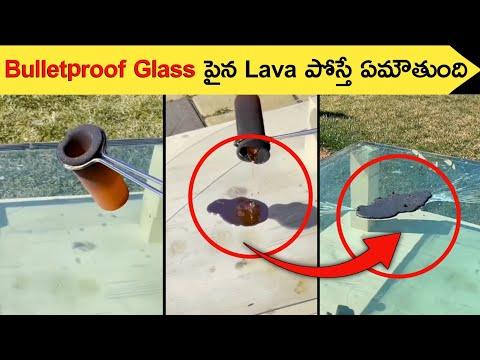 Bulletproof Glass పైన Lava ని పోస్తే ఏం జరుగుతుంది ? 🤔 #shorts