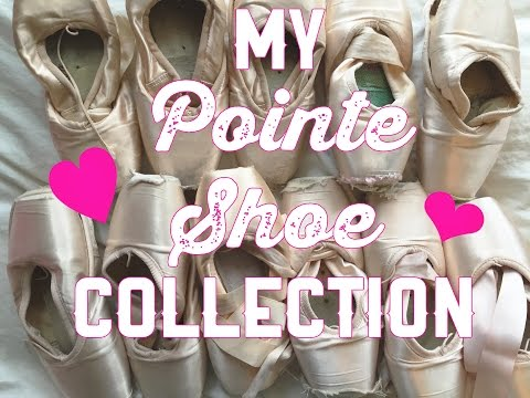 MY POINTE SHOE COLLECTION!! {the story behind the shoes}