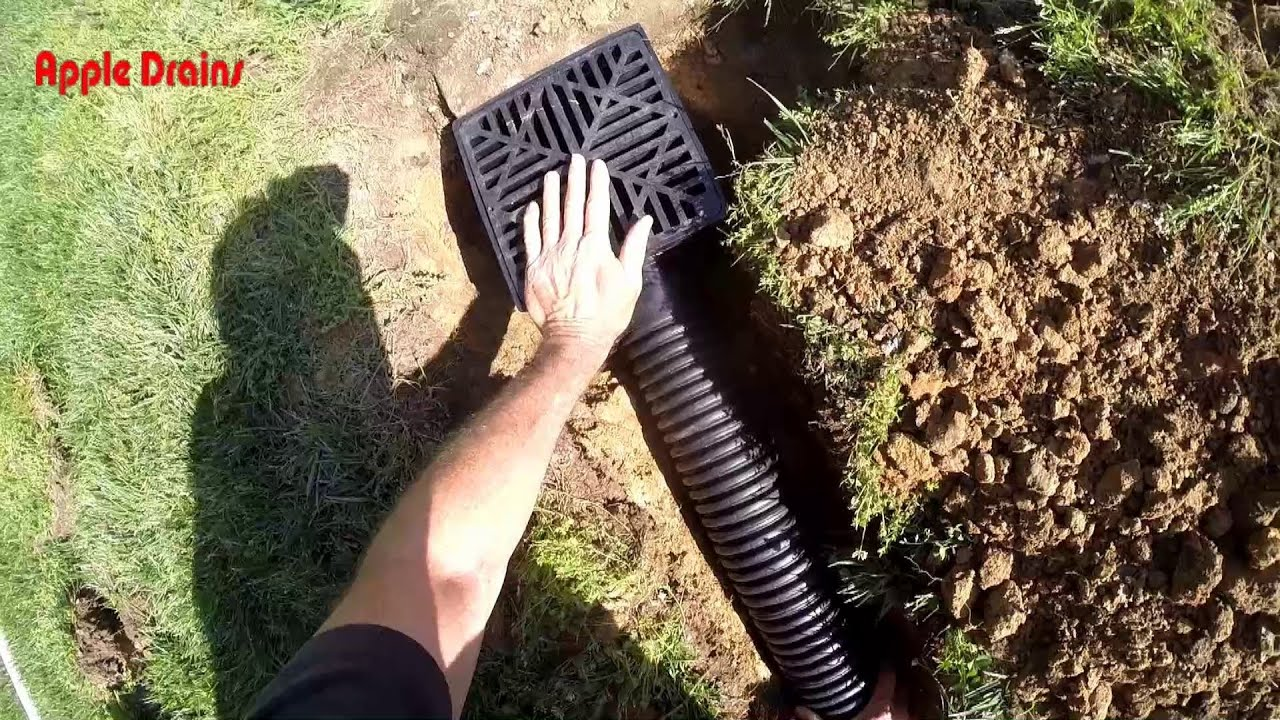 Roof Drain Trenching And Catch Basins Discharge 4 Inch