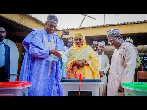 [Full Video] How President Muhammadu Buhari & his wife Aisha Buhari Casts their votes in Daura