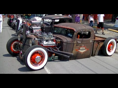 Invasion Car Show >> 1937 Bagged Chevy Pickup Ratrod | Air Ride - YouTube
