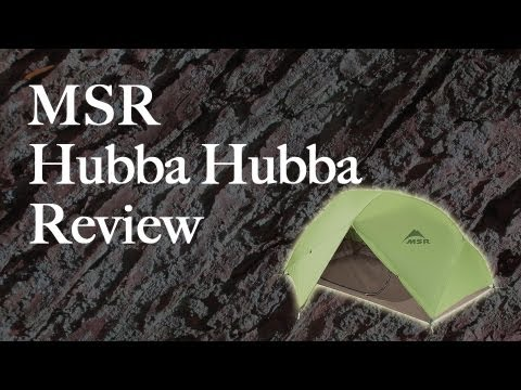 Msr Hubba Hubba Tent And Gear Shed Review Youtube