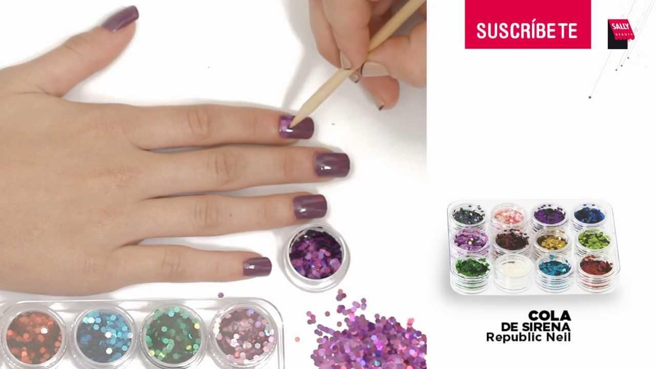 Como hacer el Manicure Cola de Sirena - YouTube