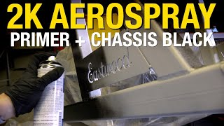2K AeroSpray Chassis Black Over Epoxy Primer - Painting the Legs Of the Box & Pan Brake Stand