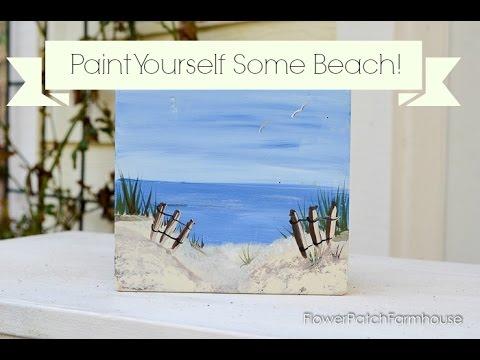 how to paint a beach scene youtube