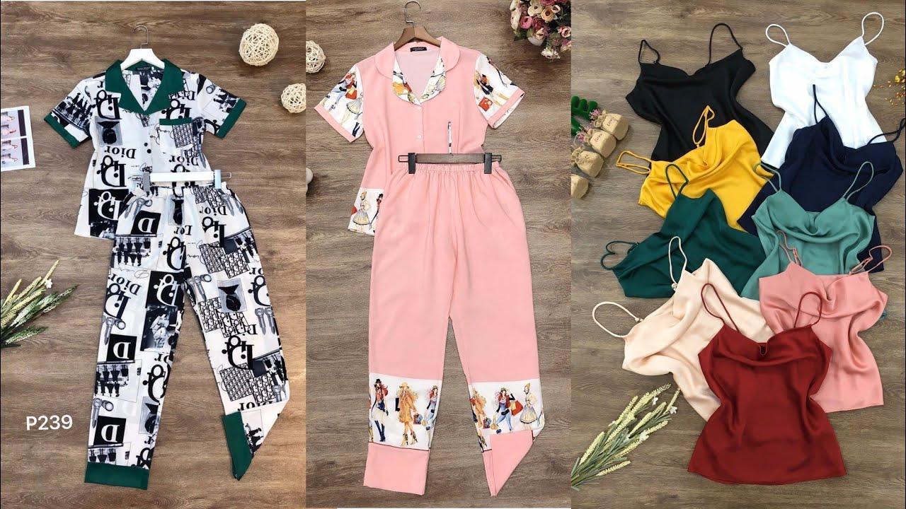 Đồ bộ mặc nhà Pijama, bộ đồ mùa hè 2020 mặc mát mẻ với nhiều mẫu mã màu sắc xinh đẹp