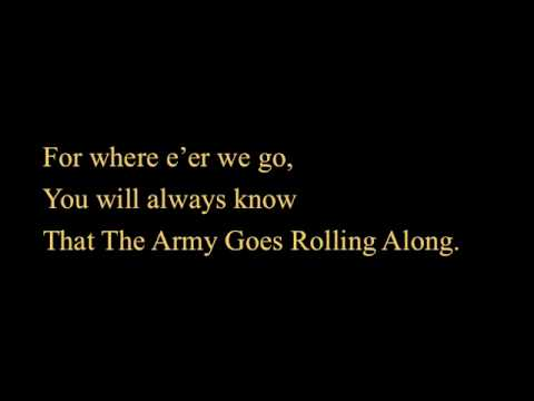 The Army Goes Rolling Along- Lyrics
