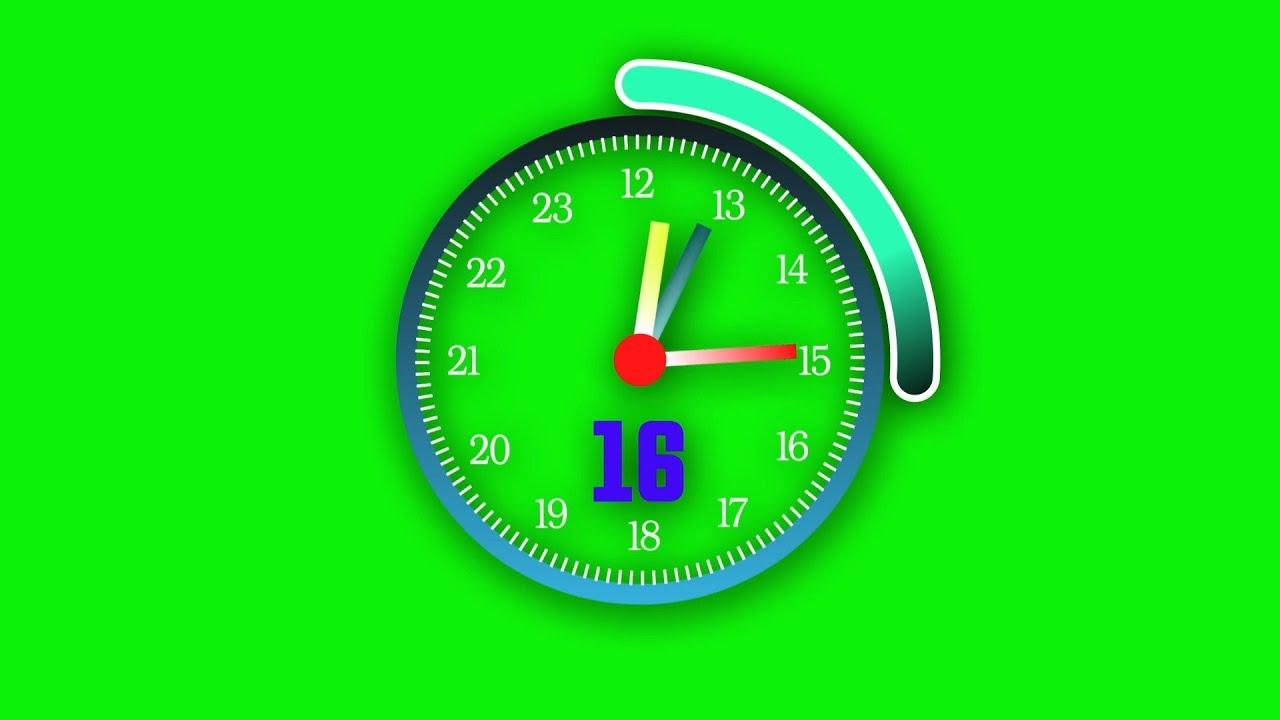No copyright green screen - clock