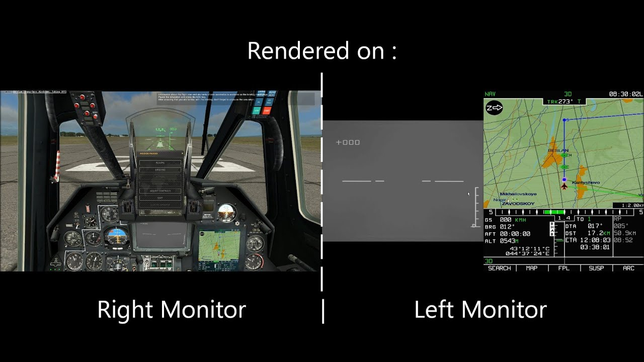 DCS: World dual-monitor troubleshooting, solution