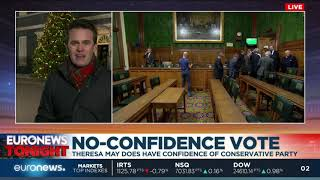 UK Prime Minister Theresa May wins no-confidence vote | Euronews Tonight