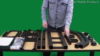 "How To Mount Your 40"" To 64"" Lcd / Plasma On Fs1031 Or Fs 1040 Exhibition  Tv Trolley Floor Stand"