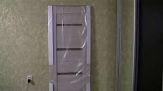 сборка и установка межкомнатной  двери с магнитным замком минимум инструмента в хрущёвке