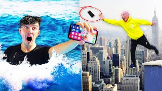 EXTREME 'CATCH YOUR PHONE' CHALLENGE!