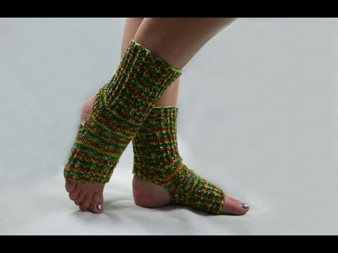 Easy Knitting Pattern For Yoga Socks : How to knit yoga socks (easy knitting pattern) - YouTube