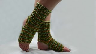 How to knit yoga socks (easy knitting pattern)