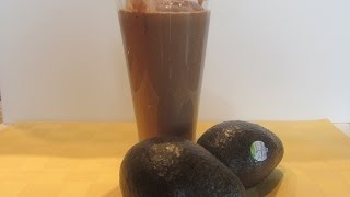 Vegetarian No Sugar Stevia Sweetened Chocolate Avocado Shake Smoothie