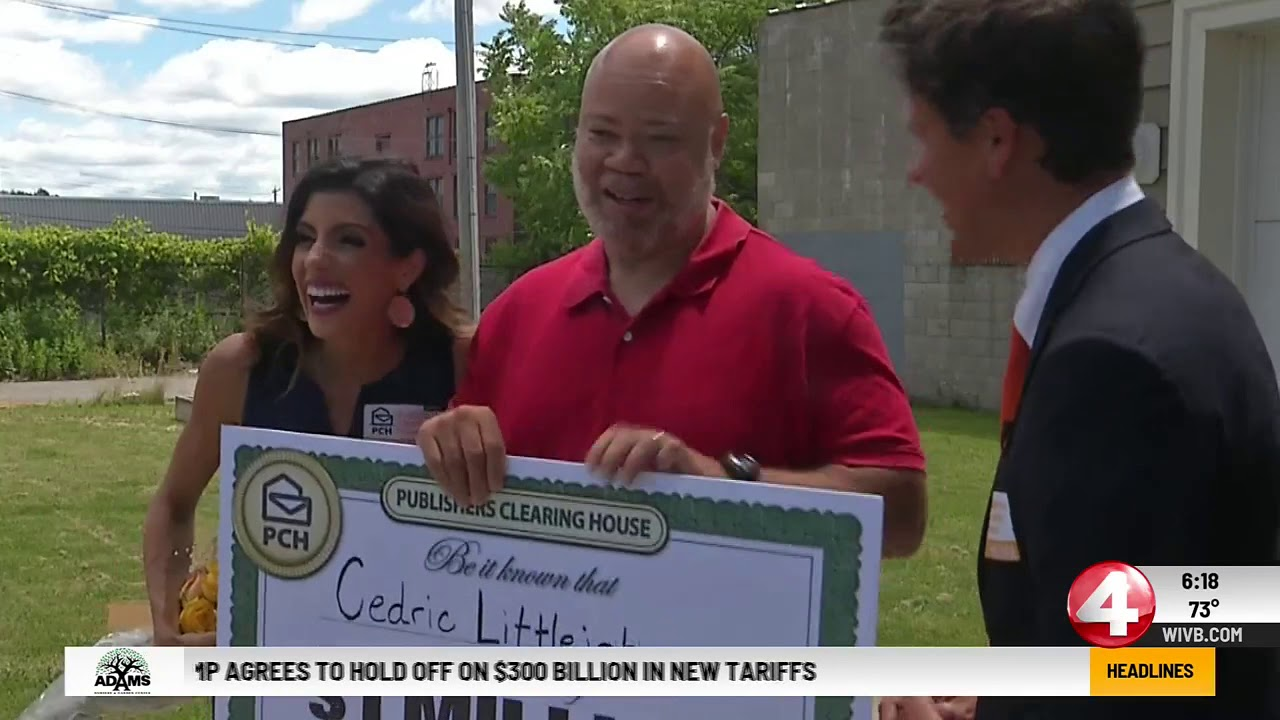 WIVB Covers Publishers Clearing House $1 Million SuperPrize Winner