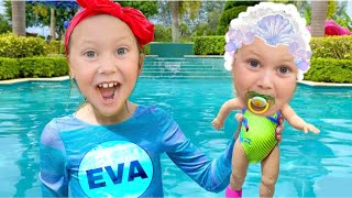 Eva found a boy doll and pretends to be a parent – Trailer