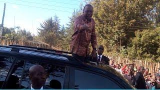 "The lady who shouted to President Uhuru ""Nakupenda"" Elburgon Kenya"