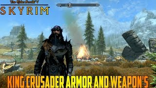 Skyrim King Crusader Armor And Weapon's Location (Xbox One Mod)