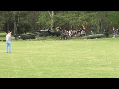 Army Blackhawk helicopter crashes on Maryland golf course