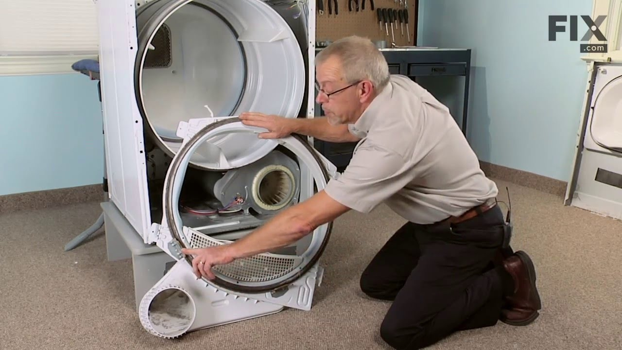 hight resolution of amana dryer repair how to replace the drum glide
