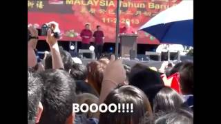 Part 2: Najib: Are You Ready For BN? People: Nooo! - CNY @ Penang , PSY- Gangnam Style