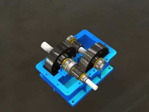 Lắp ráp hộp giảm tốc đồng trục 2 cấp - Autodesk Inventor Presentation