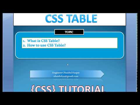 CSS Table tutorial in Bangla - by #Obaidul #Haque thumbnail