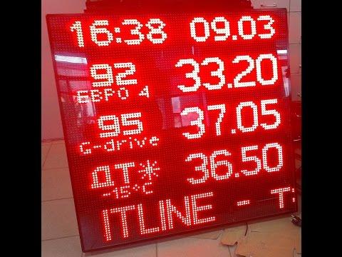 Светодиодное табло ITLINE для операторной АЗС. 70 видов топлива на выбор