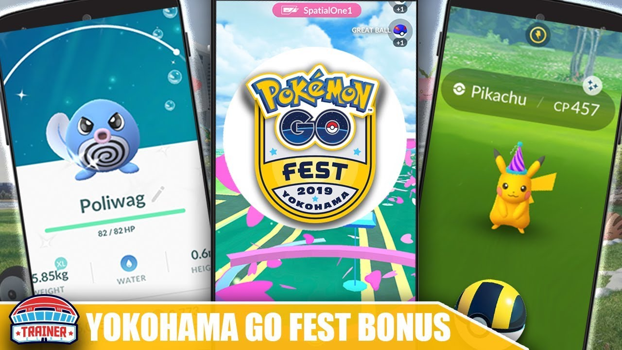 HOW TO PARTICIPATE IN YOKOHAMA GO FEST FROM HOME! NEW SHINY POLIWAG + ALL  PIKACHU HATS | POKEMON GO