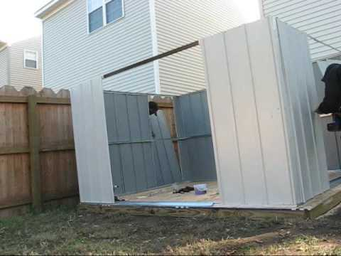 Assembly of a LOWES Shed ASSEMBLED BY HANDS FOR YOU ASSEMBLY YouTube
