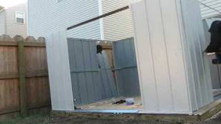 How To Storage Shed From Lowes Assembled By Hands For You Assembly