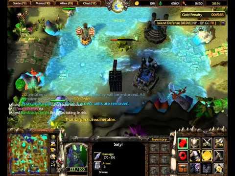 ISLAND DEFENSE - WALL WALK #3 : Epic Satyr game