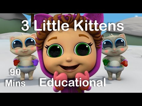 3 Little Kittens | Nursery Rhymes | Educational Songs for Kids
