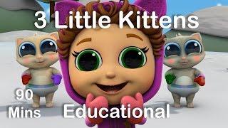 Video 3 Little Kittens   Nursery Rhymes   Educational Songs for Kids download MP3, 3GP, MP4, WEBM, AVI, FLV Juli 2018