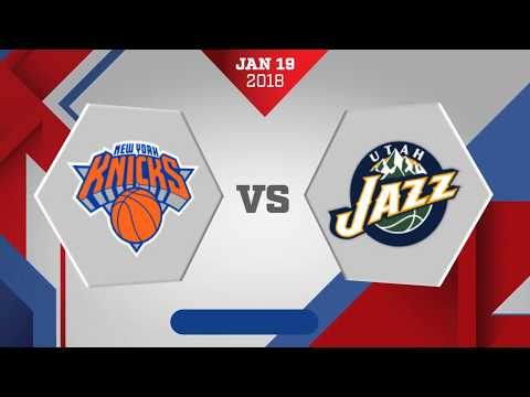 New York Knicks vs. Utah Jazz - January 19, 2018
