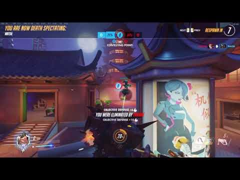 Super HIGH ENERGY Zarya and stupid Roadhog on lijiang towner