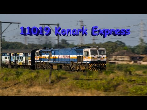 11019 Konark Express Ripping Past Neral Outer!!!!!!