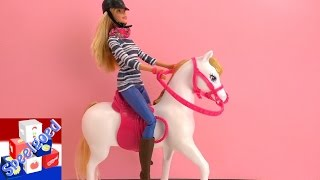 Barbie paard en pop - speelgoed unboxing en demonstratie Nederlands