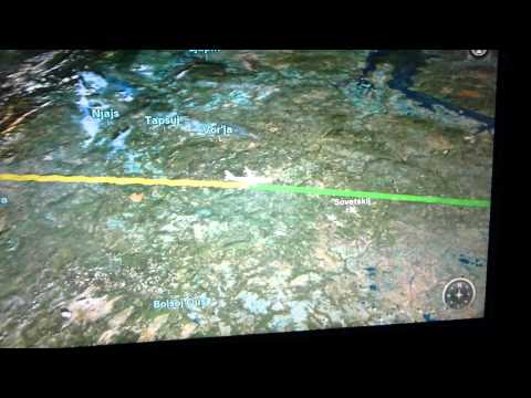 China Eastern A330-200 Inseat Entertainment-Map
