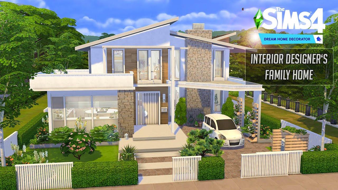 Dream Home Decorator   Interior Designer's Family Home   No CC   Stop Motion   Sims 4 Video