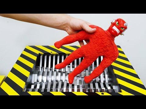 Crunching Stretch Vac-Man Toy Under Crusher! Experiment: Vac-Man Toy Vs Crusher