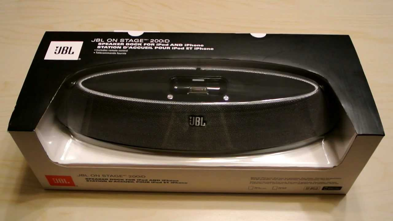 unboxing jbl on stage 200id speaker review youtube. Black Bedroom Furniture Sets. Home Design Ideas