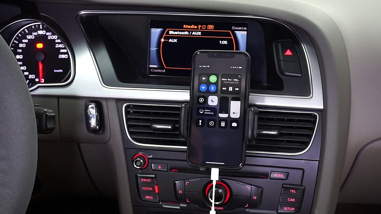 AUX vs A2DP (Integrerad bluetooth) Audi A4 / A5 / Q5 Concert 3