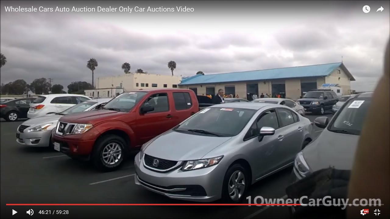 Wholesale Cars Auto Auction Dealer Only Car Auctions Video Youtube