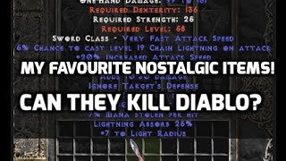 Diablo 2: Nostalgic budget items ! Can I kill Diablo ?