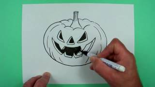 How to draw an Jack O